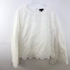 bobeau Tops - B by Bobeau Collection Tessa Eyelet Blouse Small